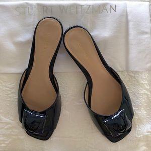 """Stuart Weitzman """"The Rosebud"""" Slide Sandals"""
